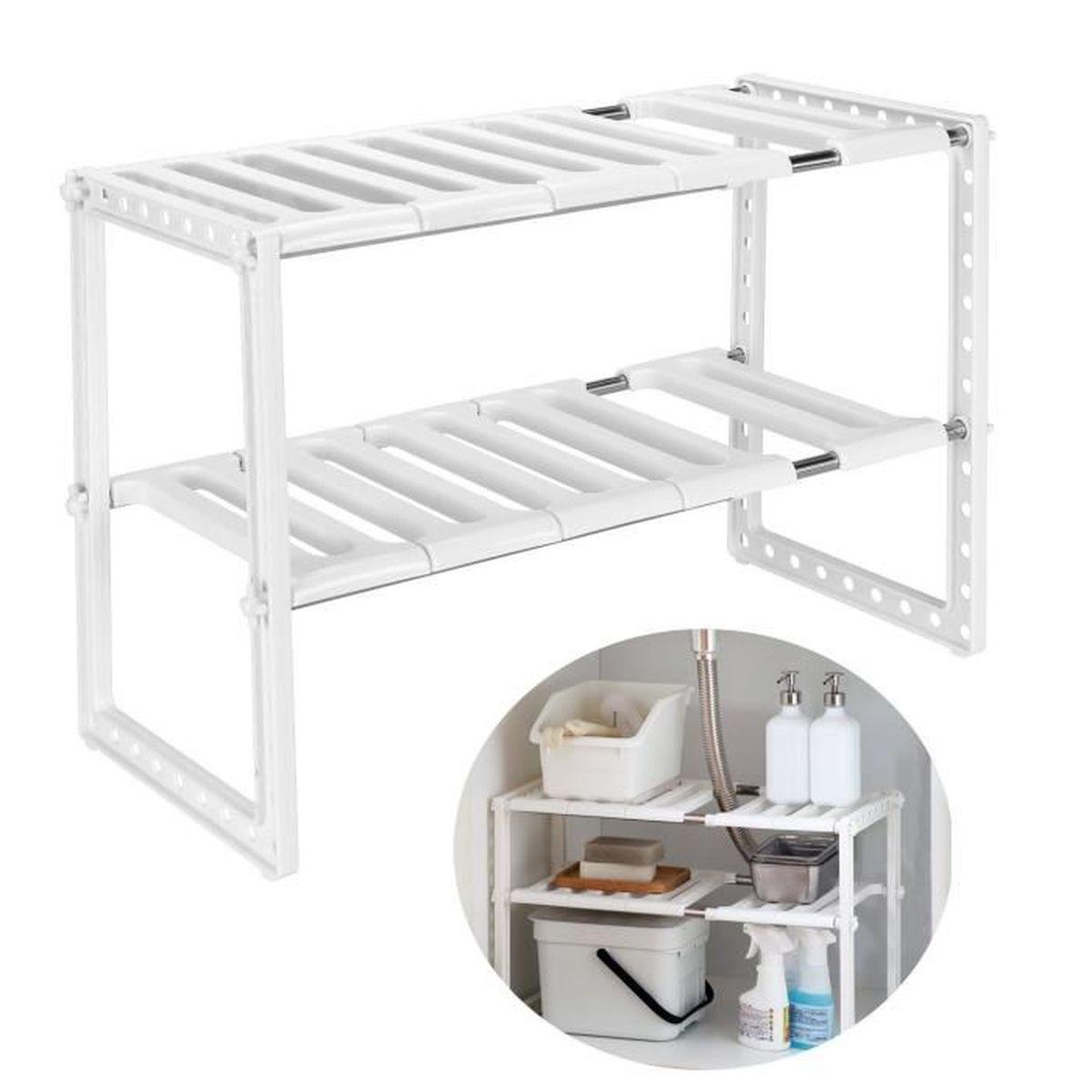 Organiser Meuble Sous Evier etagère de rangement sous Évier rack de stockage extensible