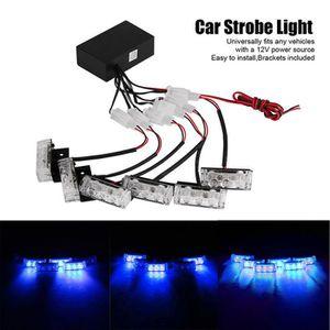 ALLUMAGE AUTO DES FEUX 18 AUTO  LEDs Lumière Bleu Stroboscope Strobe Clig