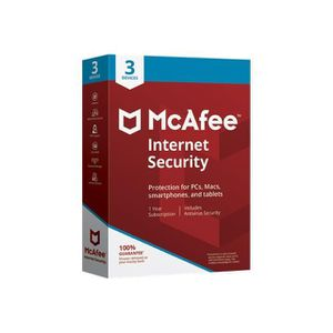 ANTIVIRUS McAfee Internet Security Ensemble de boîtes (1 an) 04a6d81ba60d