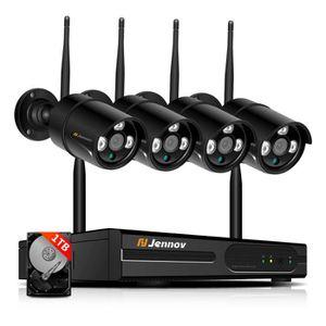CAMÉRA DE SURVEILLANCE Jennov kit de caméra surveillance wifi, 4CH NVR av