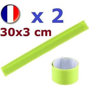 BIKE ORIGINAL 2 Brassards r/éfl/échissants avec /élastique 3,5 x 28 cm