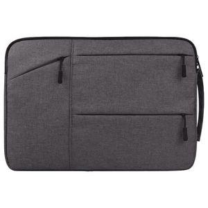 Sac Bandouli/ère pour Ordinateur Portable MacBook Air 11.6 Dell//Ausu//Acer//HP//Toshiba//Lenovo Sacoche Multifonction en Polyester /& Waterproof,Gris Fonc/é