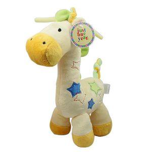 DOUDOU jaune Mignonne Girafe Peluche Musical bébé lit pou