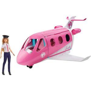 POUPÉE Barbie Mobilier coffret poupée pilote et son Avion