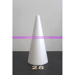Support à décorer Cône polystyrène, hauteur 28 cm, densité supéri...