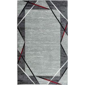 TAPIS Tapis de salon Santana gris, noir, rouge 120x160cm