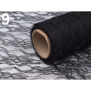 TISSU 4,5 m Noir Dentelle Décorative en Tissu Largeur 48