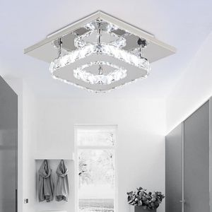 PLAFONNIER 20CM Plafonnier Cristal Lampe de Plafond LED Miroi