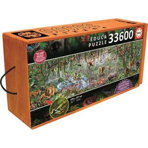 PUZZLE EDUCA Puzzle La Vie Sauvage 33600 Pièces