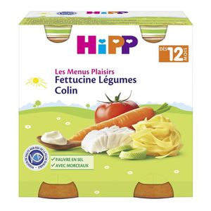 PLATS PRÉPARÉS SOIR HIPP BIOLOGIQUE les menus plaisirs Fettucine légum