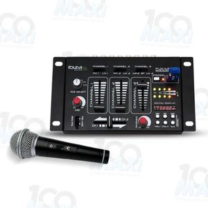 TABLE DE MIXAGE Table de mixage - 4 Voies - 7 Canaux USB-MP3 + Mic