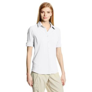 Columbia Women/'s Omni-Dry Silver Ridge III à Manches Longues Boutonné Chemise UPF 30