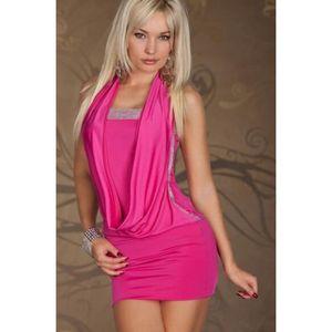 ROBE plus la taille des Femme sexy mini robe de soirée