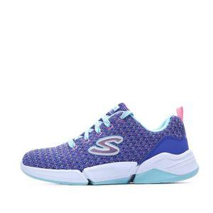 BASKET Baskets Bleu Fille Skechers Triple Flex