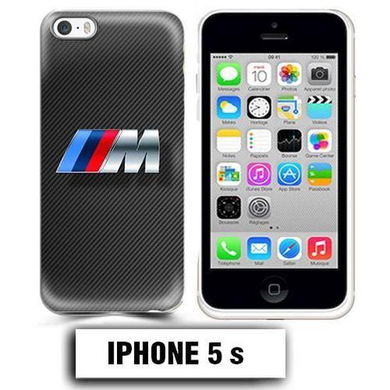 Coque iphone 5 5S BMW M Power carbone