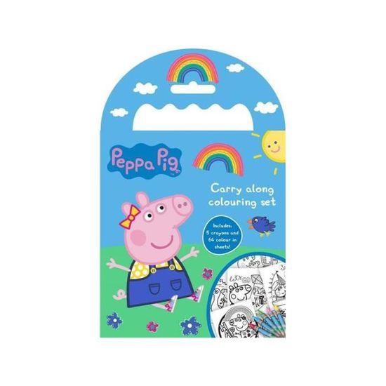 Kit De Dessin Peppa Pig Set De Coloriage De Voyage Carnet Et Crayons Peppa Pig Achat Vente Kit De Dessin Set De Coloriage De Voyage Cdiscount