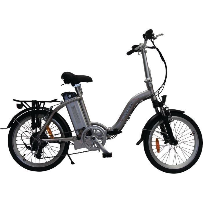 Vélo à assistance électrique Classic pliant 20- - Gris