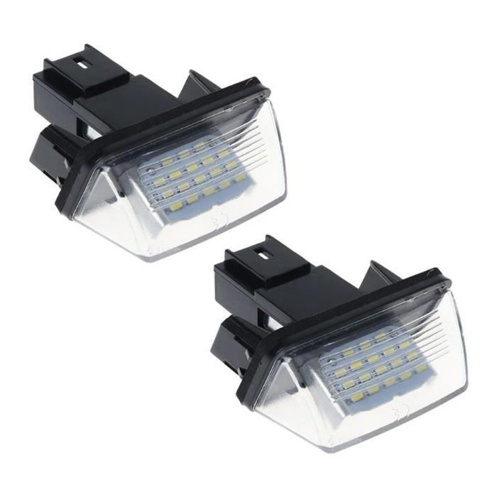 Lumière de plaque d'immatriculation de voiture pour citroën C3 C4 C5 Picasso Berlingo SAXO XSARA, Kit Canbus sans erreur, [3C9222E]