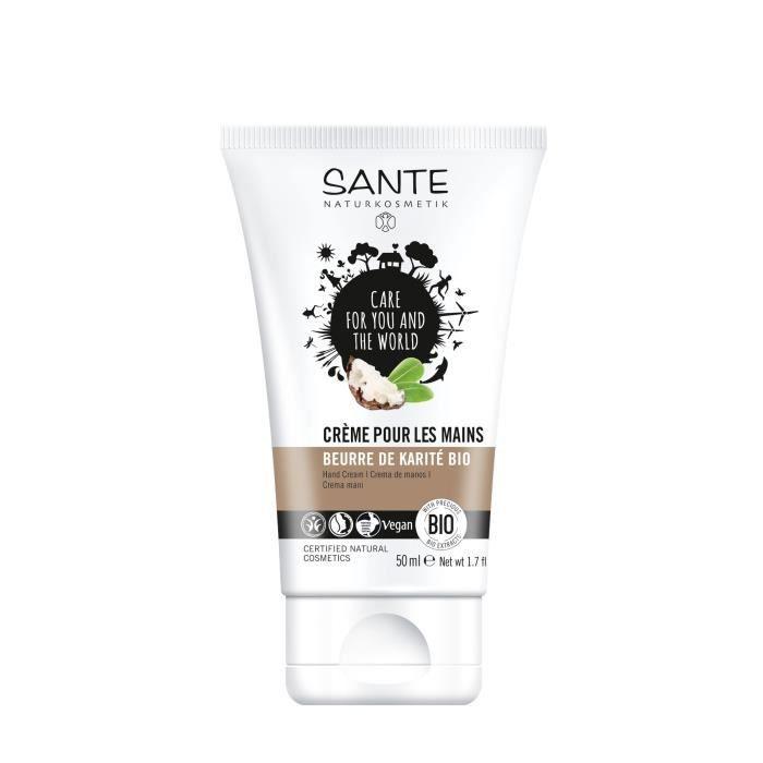 SANTE Crème pour les mains au Beurre de Karité - Bio - 50 ml