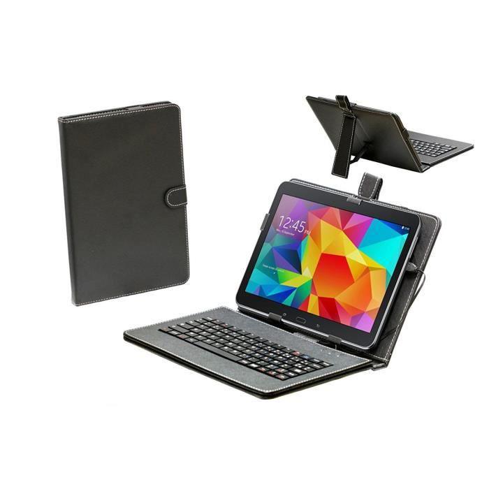 Navitech housse étui avec clavier français AZERTY intégral pour tablettes Android à 10 pouces