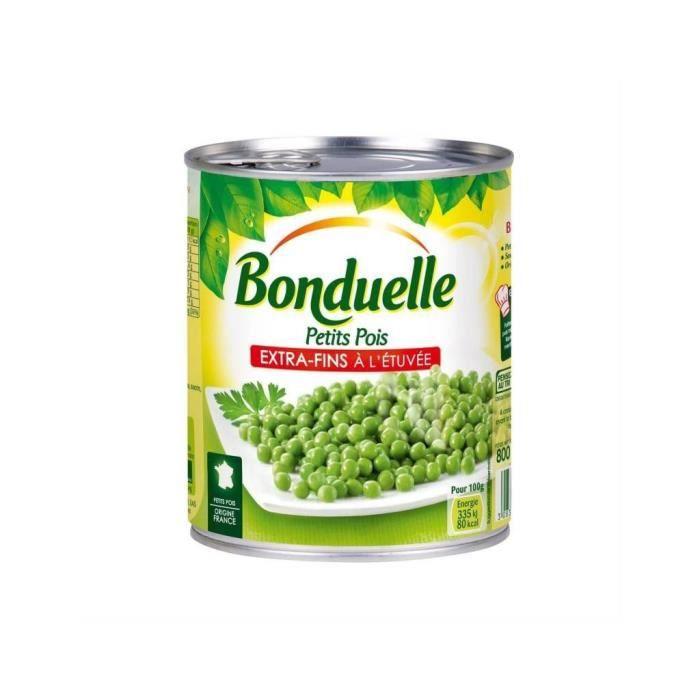 Bonduelle Petits Pois Extra Fins à l'Etuvée 800g (lot de 5)
