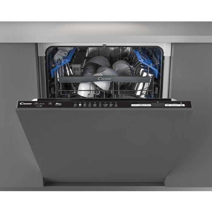 Lave Vaisselle CANDY CDIMN1D530PB - Encastrable - 60 cm Largeur - 15 couverts - A + - 44 db - Noir