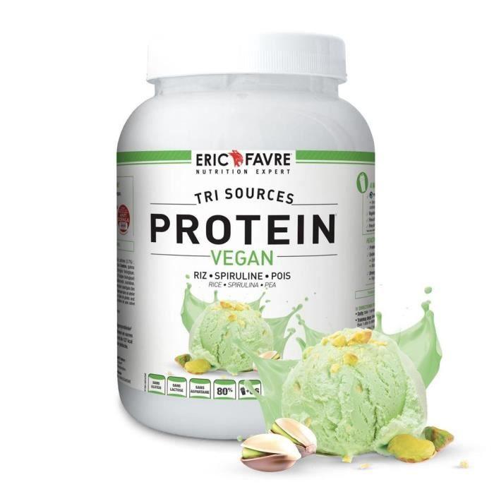 Eric Favre - Protéines Vegan, Proteine végétale tri-sources - Proteines - Pistache - 2kg