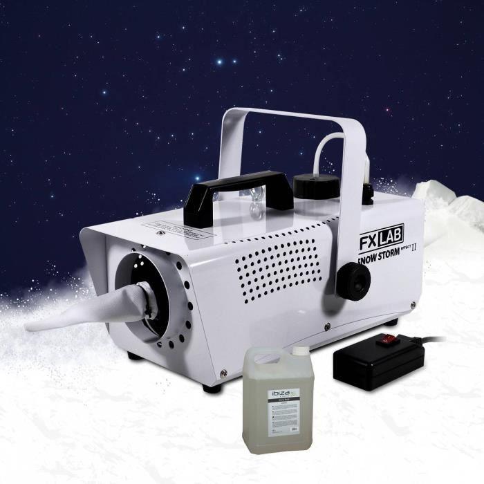 Machine à neige artificielle effet tempête de neige + 5L de liquide
