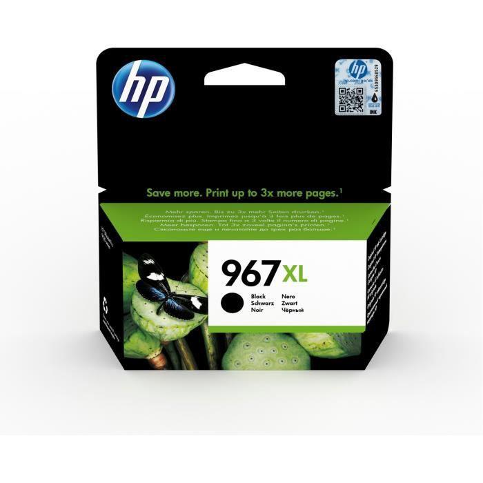 HP 967XL Cartouche d'encre noire authentique grande capacité (3JA31AE) pour imprimantes HP OfficeJet Pro 9010 / 9020
