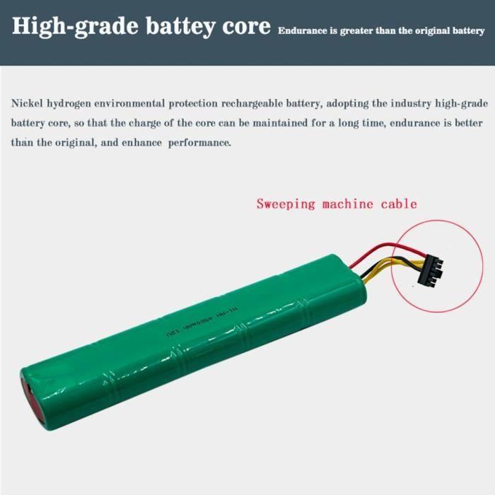 AG Batterie de vide de 4500MAH 12V NI-MH pour Neato Botvac 70e - 75 - D75 - 80-85 - D85 V1