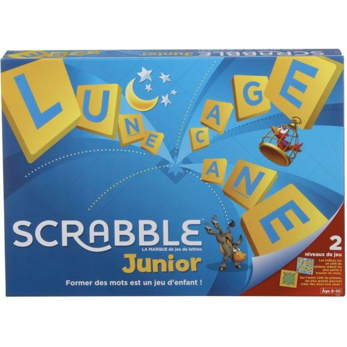 SCRABBLE JUNIOR Jeu de société enfant - 2 à 4 joueurs - de 6 à 10 ans