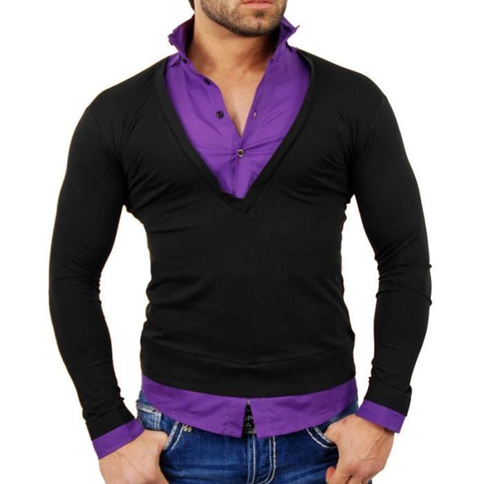 Pull chemise 2 en 1 Pull TZ724