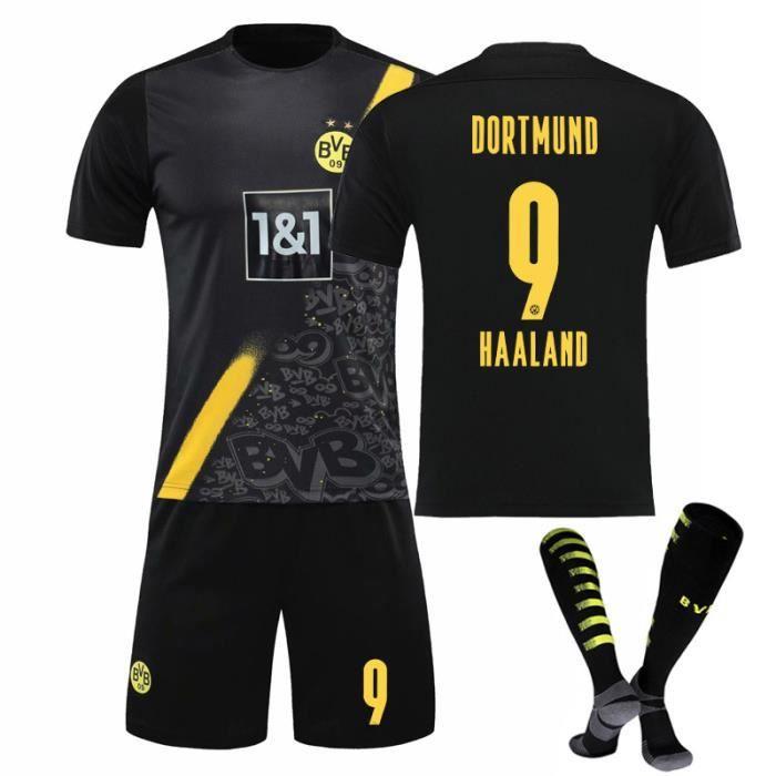 9262021 Dott Away Black Football Jersey Adulte Enfant Parent et enfant Vêtements de sport Chaussettes gratuites Harland Jersey