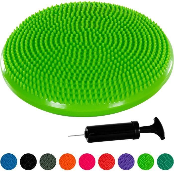MOVIT Coussin d'équilibre et d'assise gonflable 33 cm, Vert