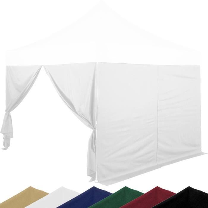INSTENT® 2 panneaux latéraux blancs avec fermeture à glissière Blanc