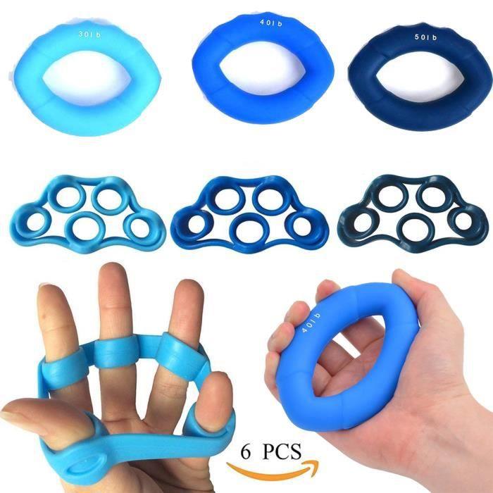 doigt à la main Bandes de résistance extensible main anneau renforcement musculaire poignet rééducation Dispositif entraînement