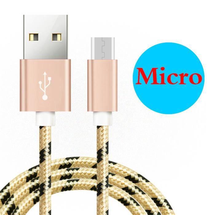 Cable micro USB B charge rapide et synchronisation pour MOTOROLA Moto E4 Plus