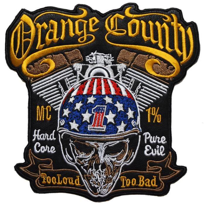 ecusson Route 66 Biker Mort Motard Moto USA us thermocollant Grand Format 33x30cm patche Badge