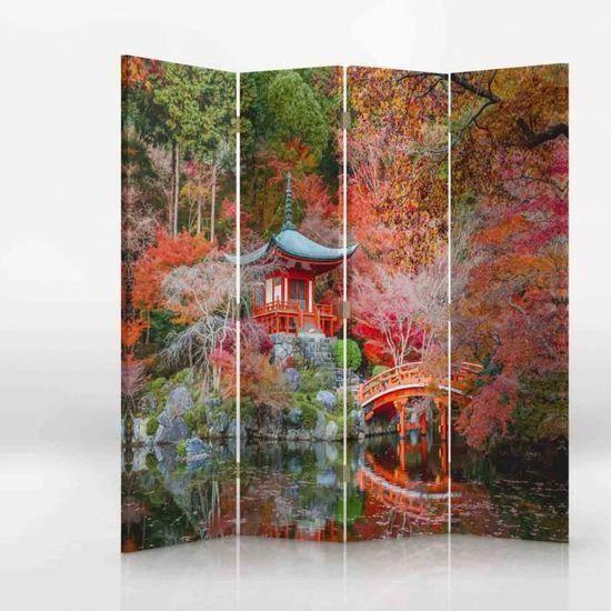 Paravent Sur Toile 145x180 Jardin Japonais Achat Vente Paravent Bientot Le Black Friday Cdiscount