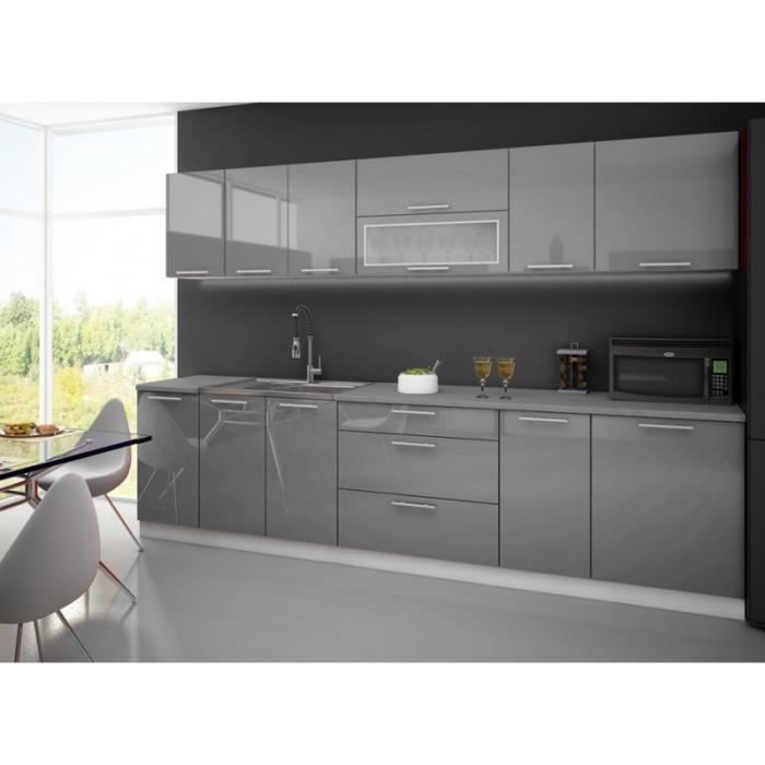 cuisine laque blanche plan de travail gris cuisine. Black Bedroom Furniture Sets. Home Design Ideas