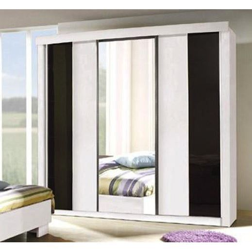 armoire 3 portes coulissantes couleur blanche achat. Black Bedroom Furniture Sets. Home Design Ideas