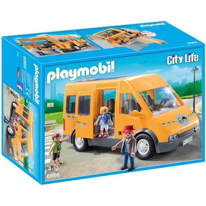 bus playmobile achat vente jeux et jouets pas chers. Black Bedroom Furniture Sets. Home Design Ideas