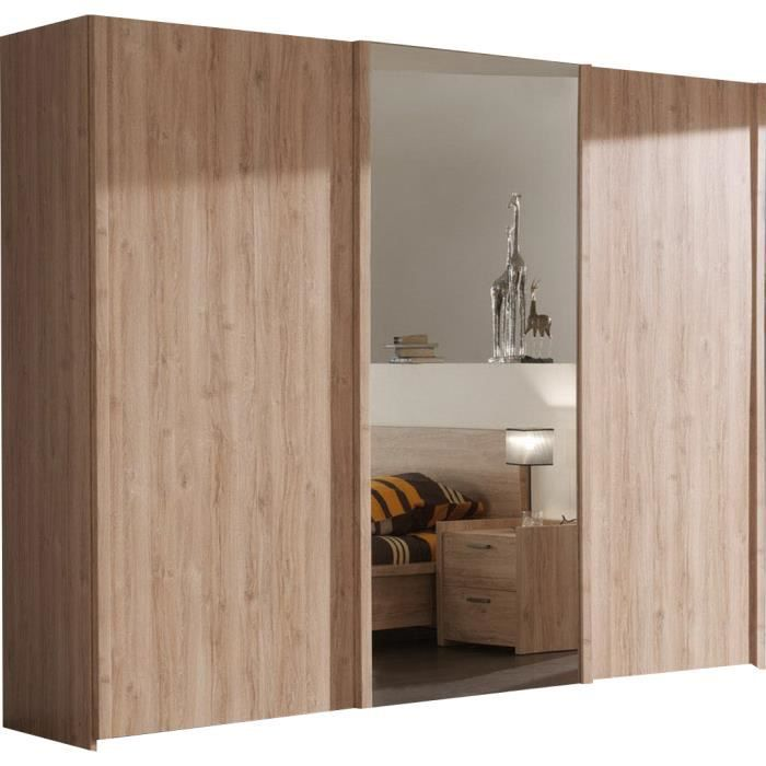 Beautiful armoire chambre porte coulissante ideas design for Armoire chambre porte coulissante