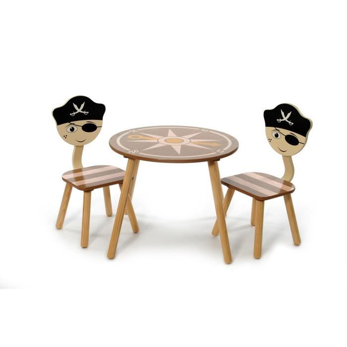 Ensemble 1 table et 2 chaises pirate baby fox achat for Table et chaise bebe 2 ans