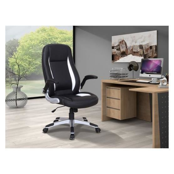si ge de bureau design barry noir et blanc achat vente chaise de bureau noir cdiscount. Black Bedroom Furniture Sets. Home Design Ideas