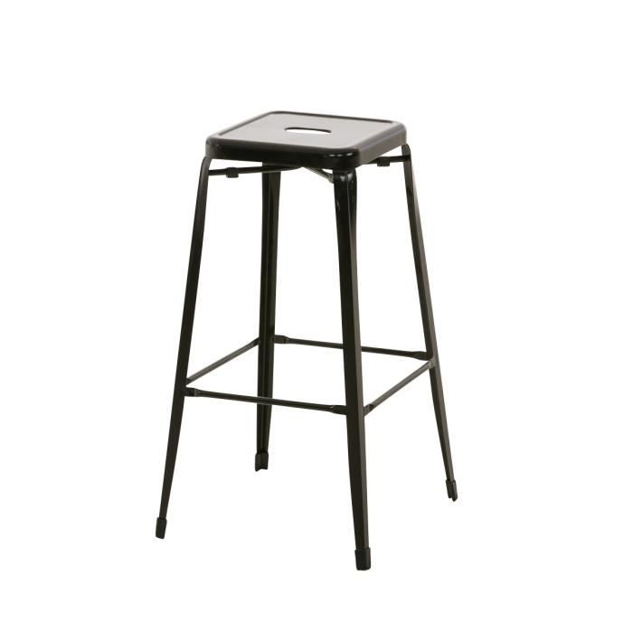 tabouret de bar assise 63 cm flynn tabouret de bar gris graphite tabouret de snack hibiscus. Black Bedroom Furniture Sets. Home Design Ideas