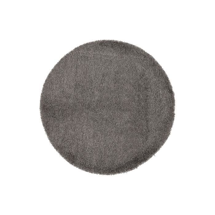tapis shaggy rond 200 gris round xl achat vente tapis. Black Bedroom Furniture Sets. Home Design Ideas