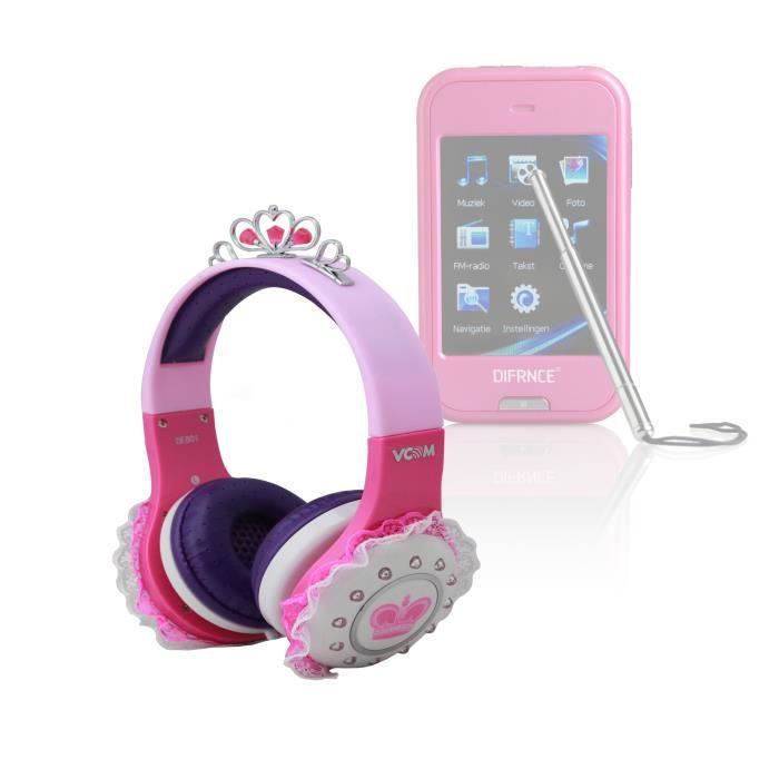 casque princesse enfant pour difrnce mp2410 4gb lecteur. Black Bedroom Furniture Sets. Home Design Ideas