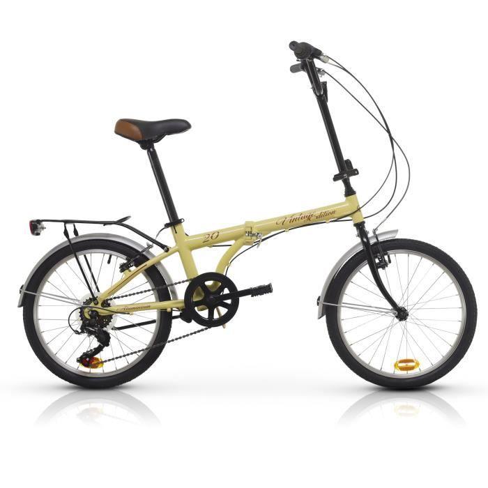 """VÉLO PLIANT Vélo Pliable Aluminium Racer ULTIMATE 20"""" Beige  S"""