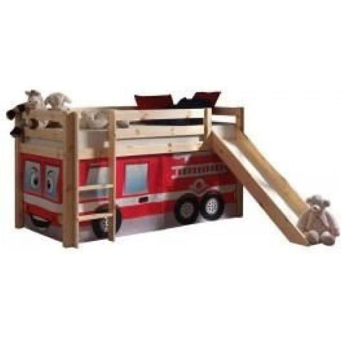 lit toboggan pompier